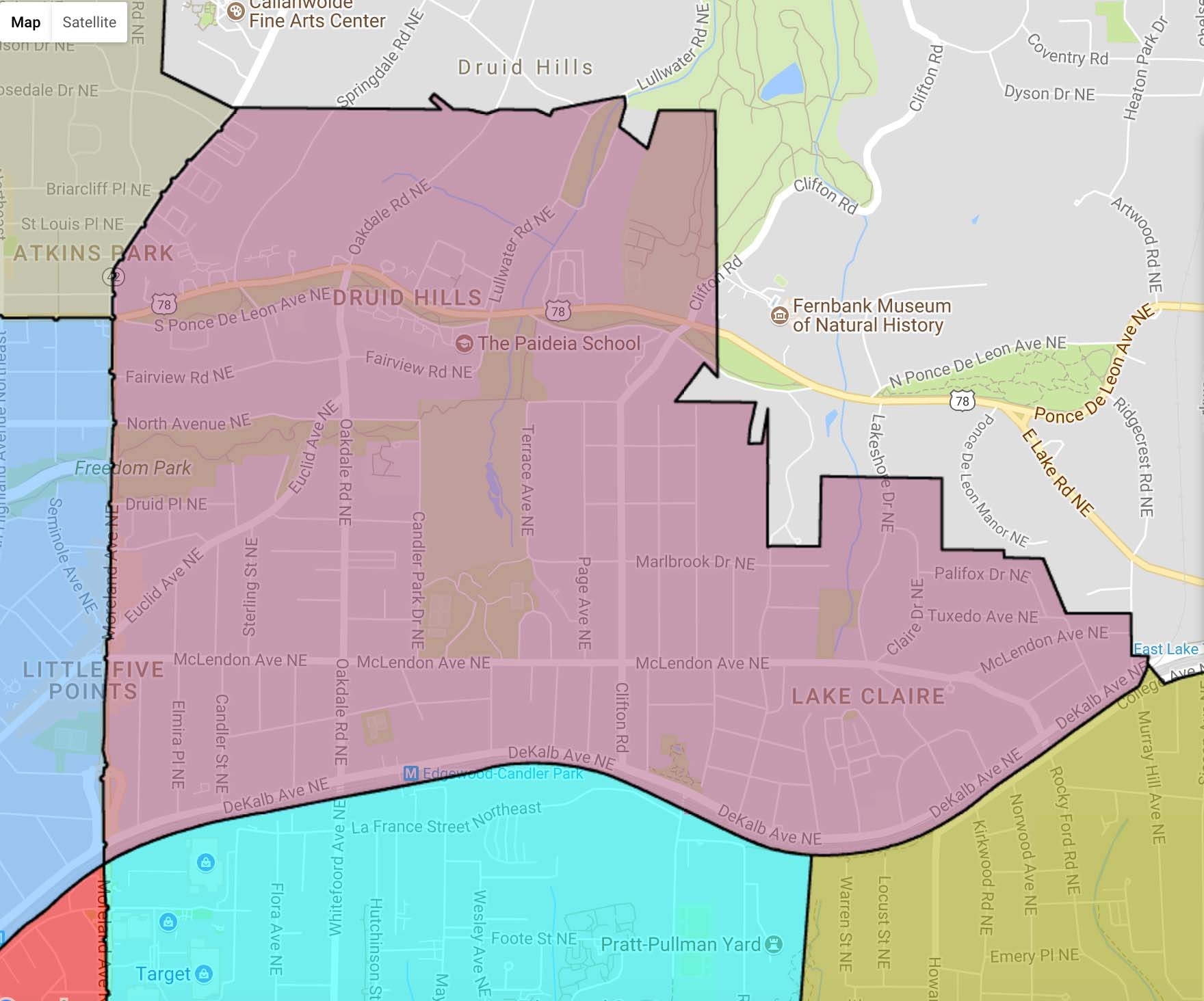 APD Zone 6, Beat 608 MAP